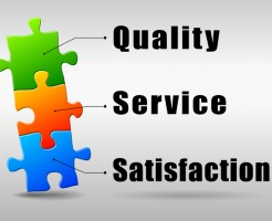 Vector illustration of quality service satisfaction abstract concept